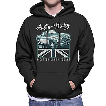 Austin Healey 2 Seater Grand Tourer British Motor Heritage Men's Hooded Sweatshirt