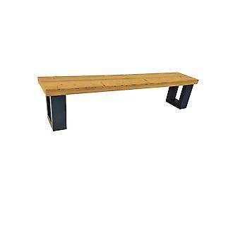 Wood4you - Bankje New England  Roasted wood 140Lx40Hx38D cm