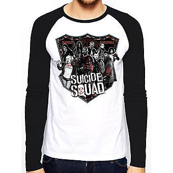Suicide Squad aikuiset Unisex aikuiset Group Shot baseball-paita