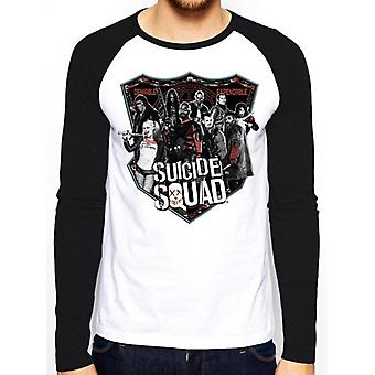 Suicide Squad Adults Unisex Adults Group Shot Baseball Shirt