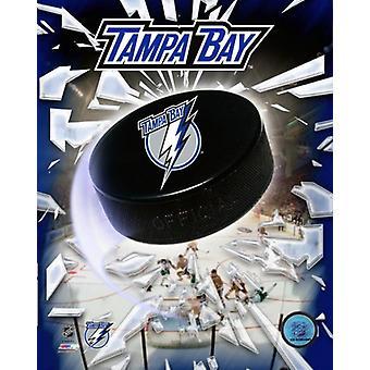 2008 Tampa Bay Lightning Team Logo Photo Print