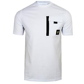 Lyle & scott men's white chest pocket t-shirt