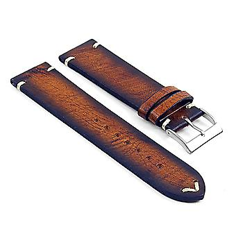 Strapsco dassari kingwood extra long premium vintage italian leather strap