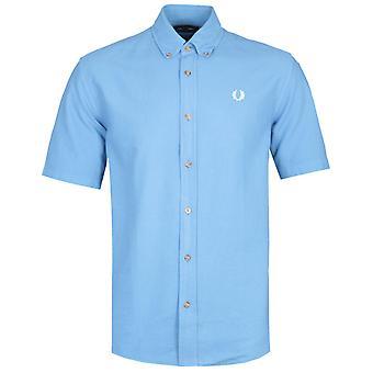 Fred Perry Overdyed Rivera blau Shirt