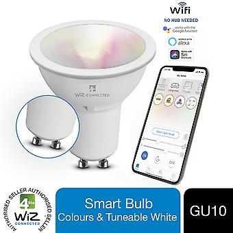 4lite WiZ Connected GU10 Colours and Whites Smart Bulb WiFi, 1 Pack