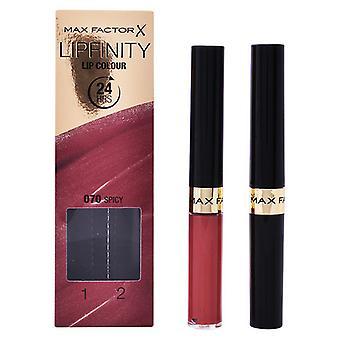 Women's Cosmetics Set Lipfinity Max Factor (2 kpl)/330 - välttämätön viininpunainen