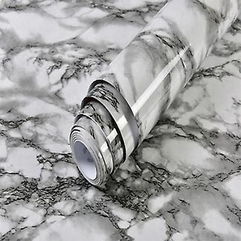 Self Adhesive And Waterproof, Marble Print Vinyl Wallpaper For Living