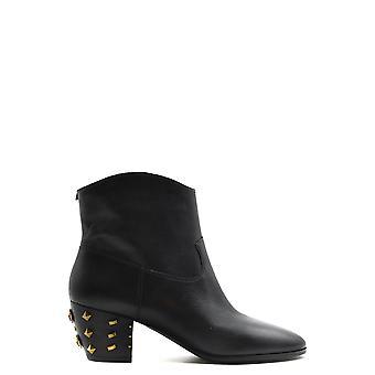 Michael Kors Ezbc063153 Women's Black Leather Enkellaarsjes