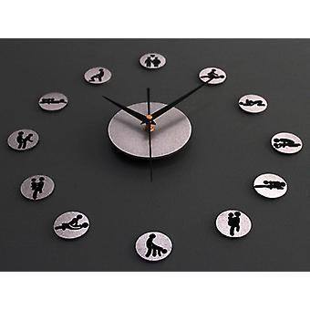 3d Lovers Sex Positions Wall Clock