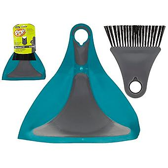 Summit Pop! Flexi Dustpan und Pinsel blau