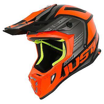 Just 1 J38 MX Full Face Off Road Helmet Orange Black Motocross ATV ACU Gold
