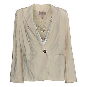 Laurie Felt Women-apos;s Suit Jacket/Blazer Knit Ponte Blazer Ivoire A346611
