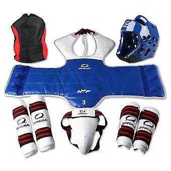 Taekwondo Protective Gear 5-piece Set For Competition (male)