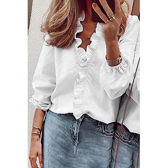 חולצה שרוול ארוך קז'ואל קפלים חמוד שיק