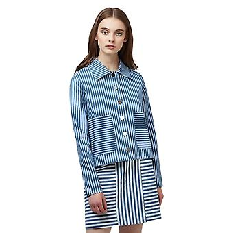 Louche Womens Koto Stripe Chambray Jacket Chambray