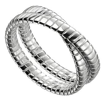 Elemente Silber 925 Sterling Silber strukturierte Doppelband Ring