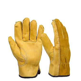 Cowhide Men's Work Driver Gloves, Security Protection, Wear Safety Workers