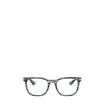 Ray-Ban RX5369 gestreifte blaue / graue Unisex-Brille