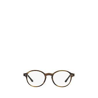 Giorgio Armani AR7004 matte striped brown male eyeglasses