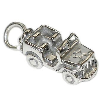 Jeep 4 X 4 Land Rover Sterling Silver Charm .925 X 1 Cars Charms - 3466
