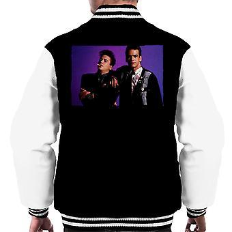 Weird Science Ian och Max Lila Bakgrund Män's Varsity Jacket