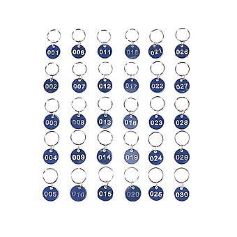 Aluminium metalen nummers platen bagage id tags - sleutelhangers labels voor thuis,