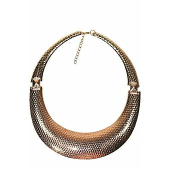 Rose Tone Dotted Statement Necklace