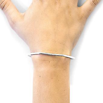 ANCHOR & CREW Rowe Half Circle Geometric Silver Bangle