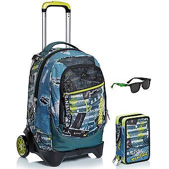 School Kit - Trolley Jack 2WD SEVEN + PEN PAD CASE + ZONNEBRIL - URBAN ROCK