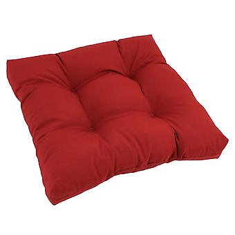 Cojín de silla de comedor con mechones de sarga cuadrada de 19 pulgadas - Rojo rubí