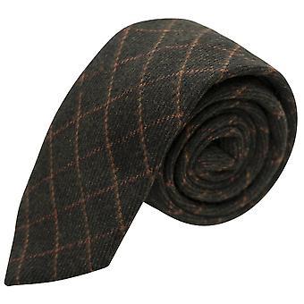 Hoja verde Tattersall comprobar corbata