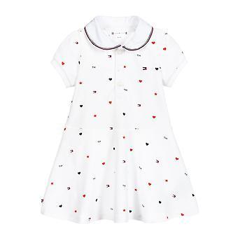 Tommy hilfiger baby meisjes witte polo jurk kn0kn01235