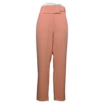 Nina Leonard Women's Pants Plus High Tech Crepe Narrow Leg Pink 644685
