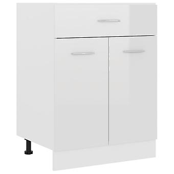 Drawer Bottom Cabinet High Gloss White 60x46x81.5 Cm Chipboard