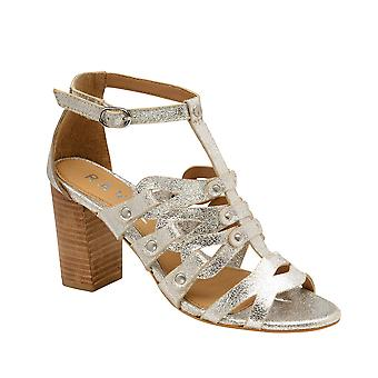 Ravel Jackson Leather Heeled Sandals  - Silver