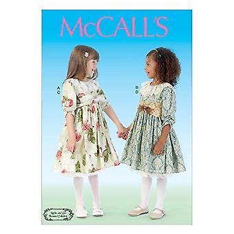 McCalls Naaipatroon 7075 Meisjes Kinderjurk Riem Petticoat Maat 2-5 CDD