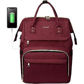HanFei Rucksack Damen mit 15,6 Zoll Laptopfach, Business Ruckscke Rechteckig mit USB Ladeanschluss,