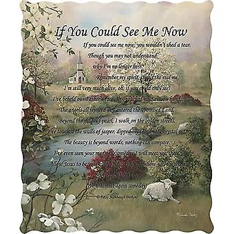 Spura Home Pictorial If You Could See Me Now Novelty Quilted Throw