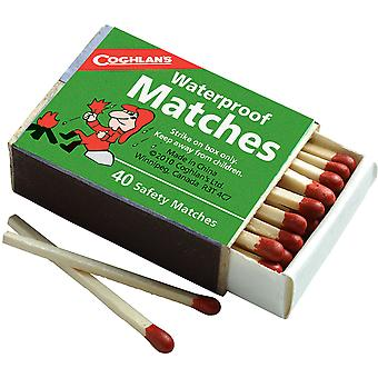 Coghlan's Waterproof Matches, 4 Boxes (160 pcs), Emergency Safety Fire Starter
