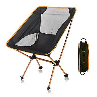 Ultralight Portable Outdoor Folding Moon Chair With Storage Bag