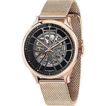 Maserati R8823136001 Men's Gentleman Automatic Steel Mesh Wristwatch