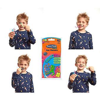 FengChun Fun Flossers Kids - Zahnseide-Sticks speziell fr Kinder - mit Fruchtgeschmack -
