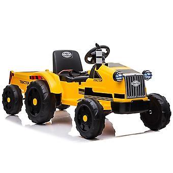 Tractor Ride-on vehicul electric – Galben – Cu remorcă