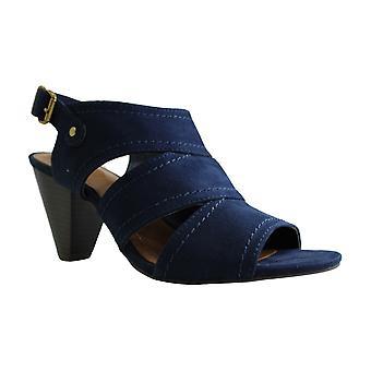 Style & Co. Womens Hosper Suede Peep Toe Casual Ankle Strap Sandaler