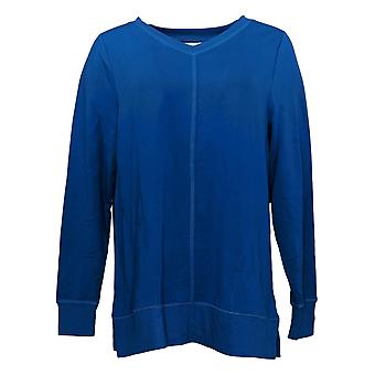 Belle by Kim Gravel Supersoft V-Neck Sweater Tunic Blue A383465