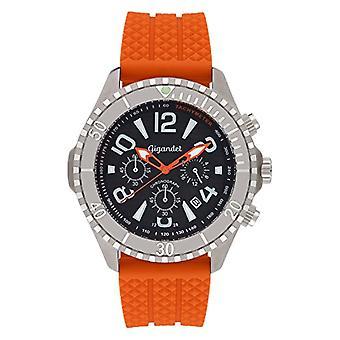 Gigandet Aquazone Montre Homme Quartz Chronographe Montre Sous-marine Analogique Date Orange Noir G23-005