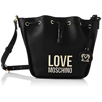 Love Moschino Pre-collection SS21 Pu Bucket Bag for Women, Black, Normal
