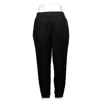 IMAN Global Chic Pantalones Petite para Mujer Smocked Waist Side Stripe Blue 7370430