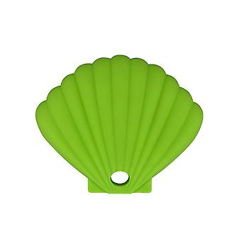3Pcs light green shell shape silicone mask storage box, dustproof and waterproof for repeated use az17427
