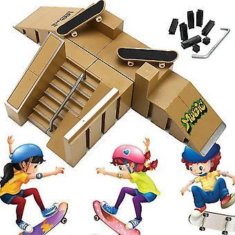A Skate Park rámpa alkatrészek 2 fedélzet fingerboard finger board játékok WS41779